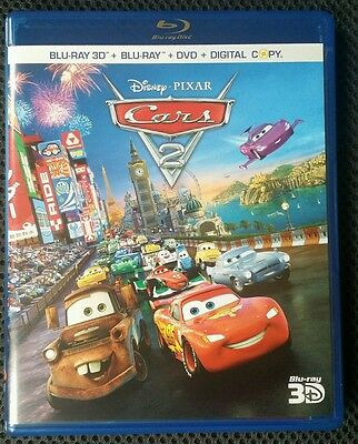 Cars 2 (Blu-ray/DVD, 2011, 5-Disc Set, 3D)