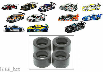 'New' Genuine Scalextric W9389 Tyres Pack For Jaguar XKRS & Audi R8s