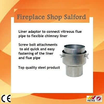 "6"" to 6 inch flue to chimney liner adapter"