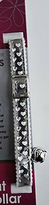 Ancol Reflective Gloss Hearts Cat Collar Silver/Red Pet Supplies Reflective For