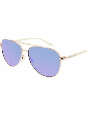Michael Kors Women's Mirrored Hvar MK5007-104525-59 Rose Gold Aviator Sunglasses