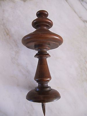 Antique Art Deco Dutch  Solid Wooden Staircase Finial Architectural Element