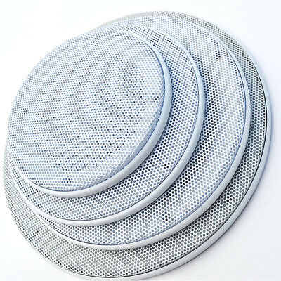 "16# 4"" 5"" 6.5"" 8"" 10"" Inch White Speaker Grill Decorative Circle Net Cover Car"