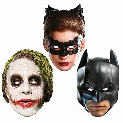 Official Dark Knight Batman Catwoman Joker Party Face Mask 2D Card