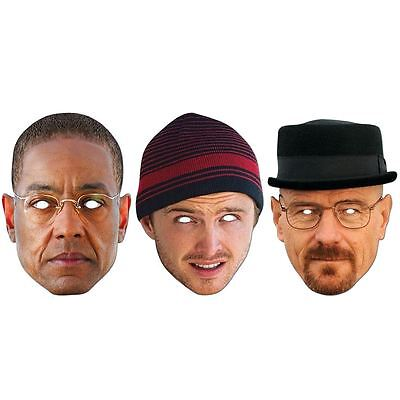Breaking Bad Walter White Jesse Pinkman Gus Fring Party Mask Official Licensed
