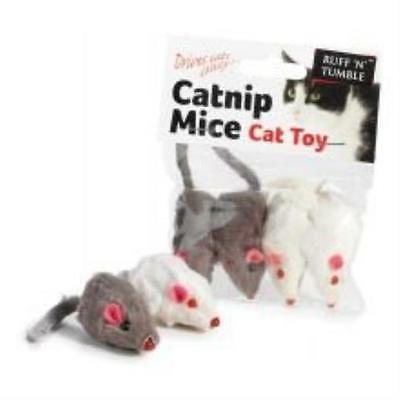 Ruff N Tumble Catnip Mice 4 Pieces Toy Game Kids Play Gift Pet Supplies New