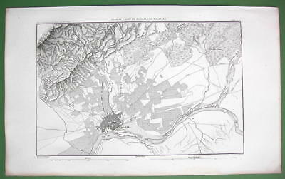 1859 ANTIQUE MAP - Spain Environs of Talavera