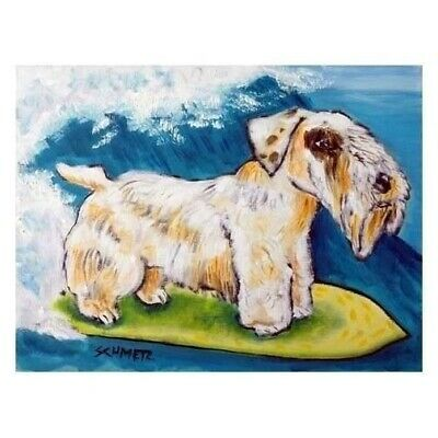 SEALYHAM TERRIER art  DOG  art  from painting 13x19 surfing folk a GLOSSY PRINT
