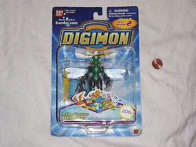 NEW Digimon Action Feature STINGMON Figure with Wing Popping Action Season 2 Toy