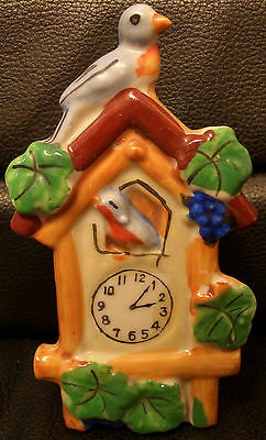 Vintage Lusterware Coo Coo Clock Wall Pocket, Japan, Ceramic