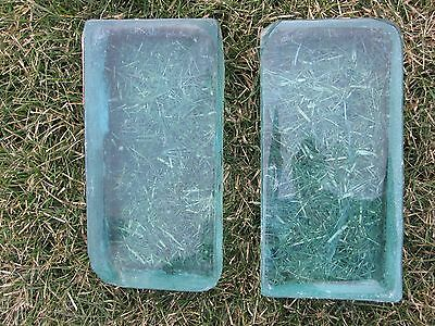 Antique Light Blue Glass Blocks Ocean Feel Interior Decorate Bookends? Pair Old • CAD $125.99