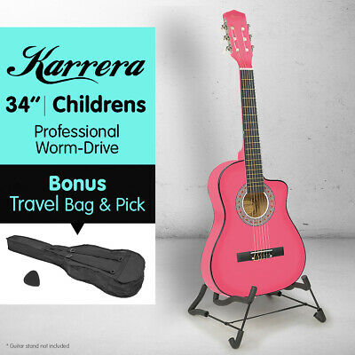 NEW PINK CHILDRENS ACOUSTIC GUITAR IDEAL KIDS GIFT 1/2 size