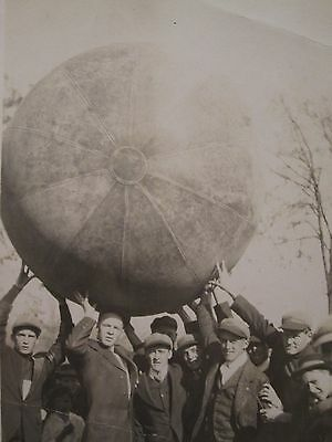 Vintage Antique Vernacular Photography Big Ball World In Hands Boys Play Photo