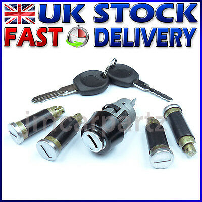 VW T4 TRANSPORTER 1990- Ignition Switch Lock Barrel & Door Lock SET 5 pcs NEW !