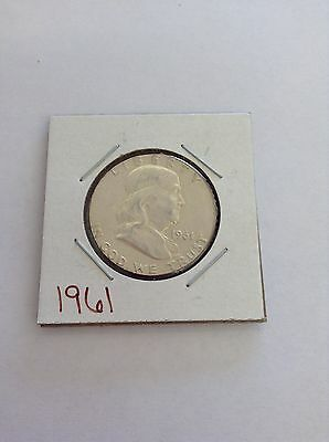 1961-P Franklin Half Dollar  Circulated  Condition 90 % Silver US Coin 530u