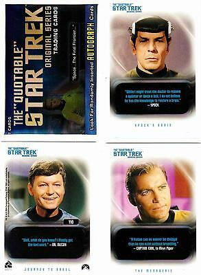 STAR TREK TOS QUOTABLE (2004)--Complete 110-Card Base Set + Wrapper^^^
