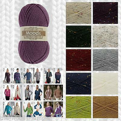 33% Off - King Cole Moods Dk Knitting & Crochet Yarn & Pattern Collection