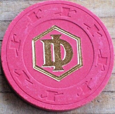 Vintage 19Th Edition Red Roulette Chip From Desert Inn Casino Las Vegas Nv