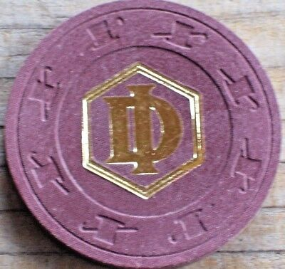 Vintage 19Th Edition Brown Roulette Chip From Desert Inn Casino Las Vegas Nv