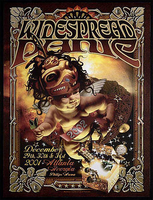 Widespread Panic Philips Arena New Years Eve 2001 Poster - Craig Howell