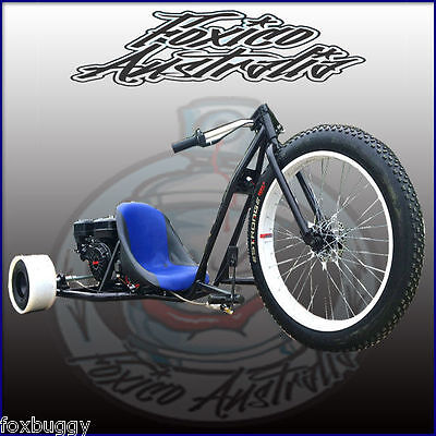 6.5HP FATBOY MOTORISED DRIFT TRIKE HuFFy SLIDER GOKART ELEC START FULL SIZE