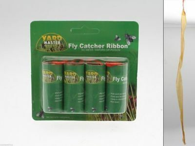 144 x 4 pack Fly paper catcher non toxic traditional bulk wholesale lot