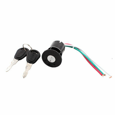 Scooter Motorcycle Electric Bike 3 Wires Ignition Switch Lock w 2 Keys