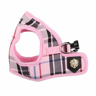 Puppia Junior Jacket Harness Small Pink Pet Supplies Checkered & Solid Schemed