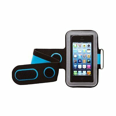 Groov-E Gv-Am1-Bb Universal Sport Armband Black/Blue Sound & Vision Compatible