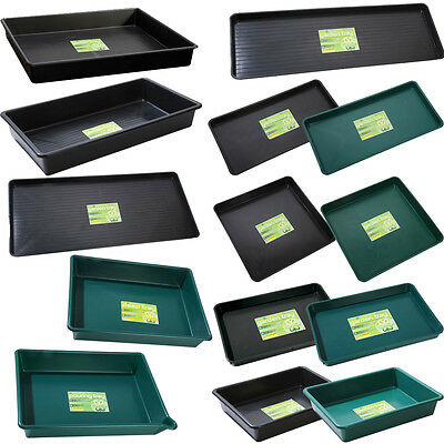 Garland Garden Trays Various Sizes Types & Colours Plastic Hydroponic Greenhouse