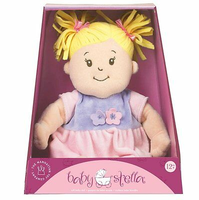 Manhattan Toy Baby Stella Blonde Hair Soft Nurturing First Baby Doll NEW IN BOX