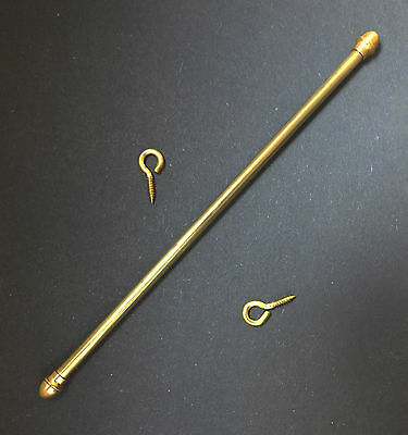 Dolls house miniatures: expandable brass curtain rod (large)