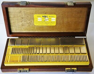 DOALL 80 Piece Gauge Block Set Grade A+ Model 81-R