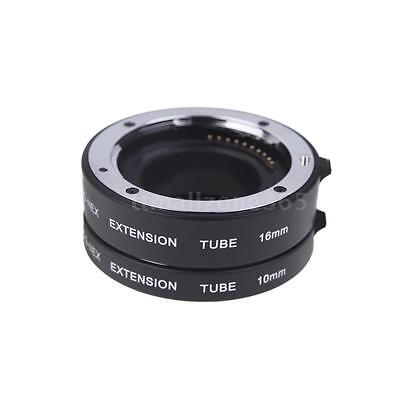 Macro AF Auto Focus Extension Tube 10mm 16mm Set Ring Metal Sony NEX E-mout A2W1