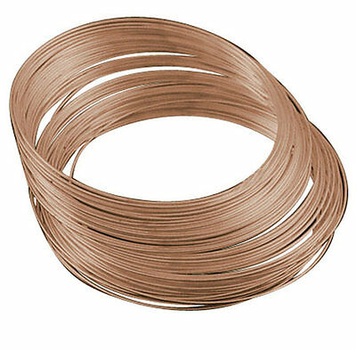 50 Circles Copper finish Memory Wire For Bracelet Making 1mm thickness-9408