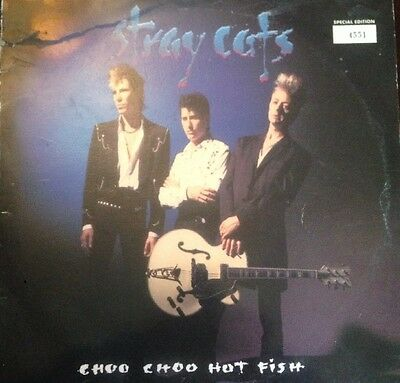 "STRAY CATS - Choo Choo Hot Fish - Special Edt No: 4551 - 10"" Vinyl LP - Pump"