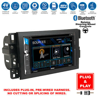Double DIN Touchscreen Bluetooth USB Radio+Interface+Chevy Car Stereo Dash Kit