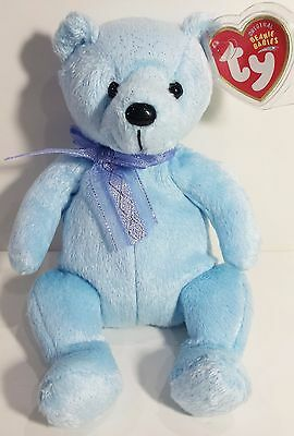 "TY Beanie Babies ""LANI"" the Blue Teddy Bear - MWMTs! RETIRED! A MUST HAVE!"