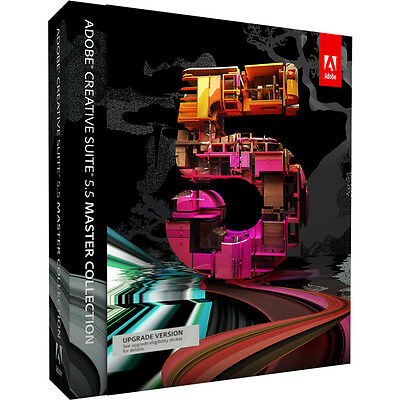 Adobe Creative Suite Cs 5.5 Master Collection Upgrade Version From Cs3 Mac New