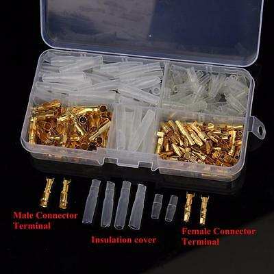 120pcs/box Brass Bullet 3.5mm Connector Terminal Male & Female with Cover ELK