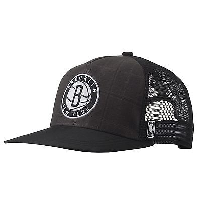Adidas Nba Brooklyn Nets Hat Trucker Cap One Size Fits Most Originals Grey Men's