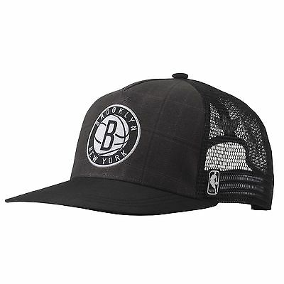 Adidas Nba Brooklyn Nets Official Trucker Cap One Size Fits Most Solid Grey