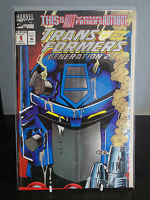 Transformers generation 2 #1 bifold metallic/ foil cover New unread