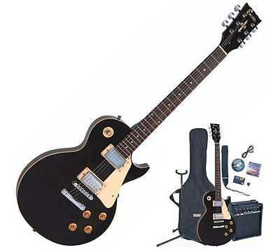 ENCORE E99 Electric Guitar/Amp Package with All accessories Gloss Black