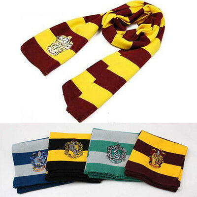 Harry Potter Scarf Gryffindor House Wool Knit Scarves Wrap Warm Cosplay Costume