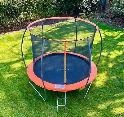 Trampoline with internal safety net enclosure  ladder & rain cover 8ft 10ft 12ft