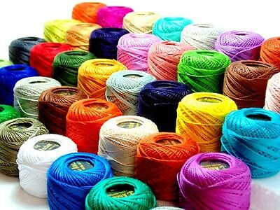 New 50 x Anchor Crochet Cotton Thread Balls Assorted Colors Sewing Embroidery