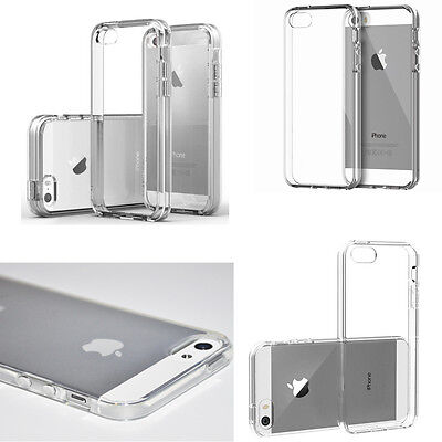 Fit For Apple iPhone5 5S SE Case Ultra Thin Flexible TPU Clear Crystal Cover10Pc