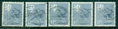 Great Britain Scotland Sg-S57, Scott # Smh-30 Used, 10 Stamps, Great Price!