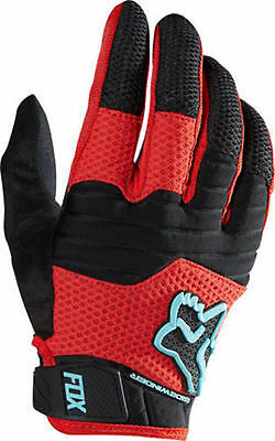 Fox Head Racing Sidewinder Full Finger Cycling Gloves Black/Red Size Large New